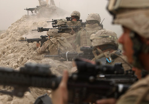 U.S. Marines fight the Taliban in Afghanistan / AP